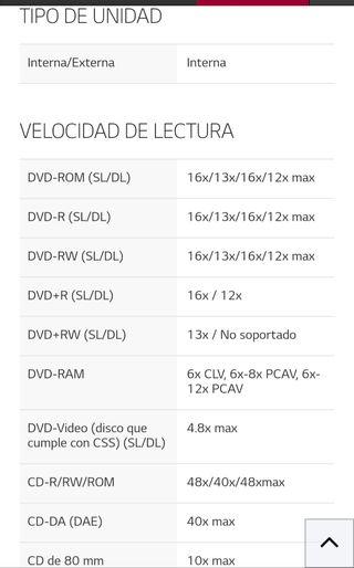 LG grabador DVD interno