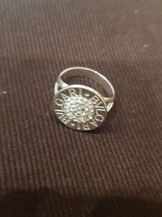 anillo bulgari plata