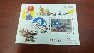 Sello prensa. ABC, PAÍS, LA VANGUARDIA, MUNDO