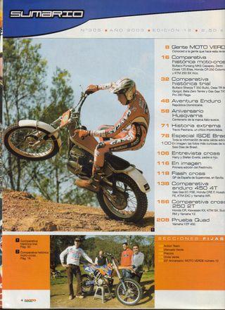 REVISTA MOTO VERDE Nº 305 - Año 2003