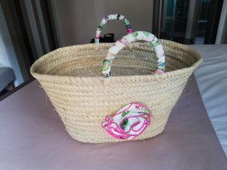 cesta mimbre playa