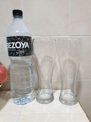 Vasos cristal + REGALO jarra del Valencia
