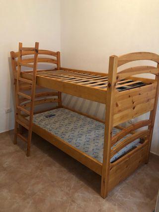 Litera dormitorio pino macizo