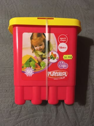 Cubo Playskool Clipo construcción NUEVO