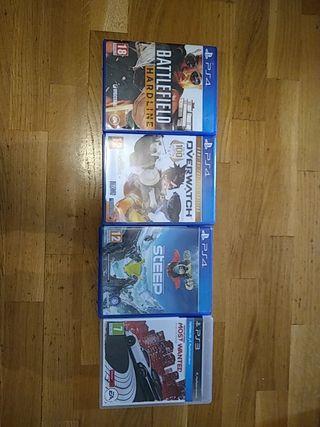 3 juegos ps4 y 1 ps3