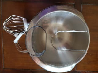 Recipiente de mezcla de acero inoxidable + Varilla