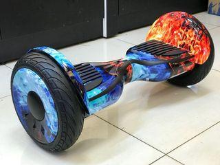 """Hoverboard 10"""" Color Verde Con Diseño Espacial"""