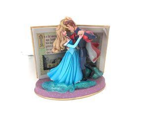 Figura adorno navidad Aurora Disney azul