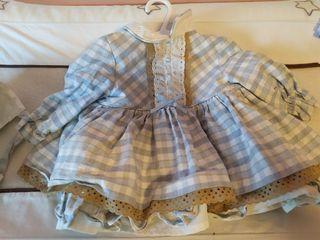 Vestido con gorrito bebe 6 meses
