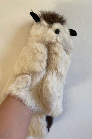Marioneta de mano animalito de pelo