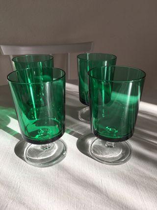 Juego copas verdes