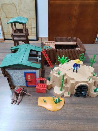 Playmobil oeste fort brave + depósito agua nuevo