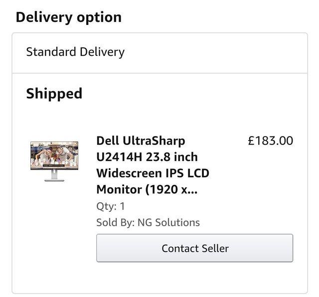 Dell UltraSharp U2414H 23.8 inch Widescreen IPS
