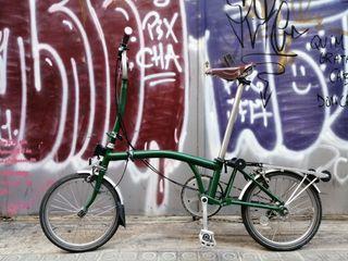 Brompton H3R verde - sillin BROOKS