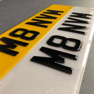 3D 4D Number Plate Front & Rear