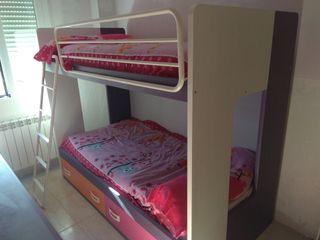OFERTA** Dormitorio juvenil (litera, escritorio,+)
