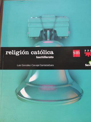 libro religión católica 1º de bachillerato SM