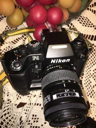 Nikon F4 no digital con Flash y zoom electronico