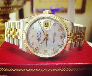 Men's oyster Perpetual Rolex Watch (White face)