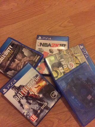 Lote de juegos ps4 precio negociable