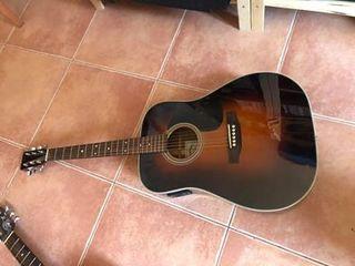 Guitarra acústica sigma con pastilla y previo.