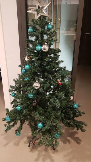 Arbre de Nadal 150 cms amb adornaments i llums