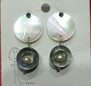 pendientes nácar y perla