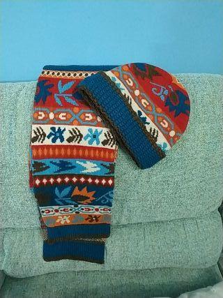 conjunto gorro y bufanda ZARA