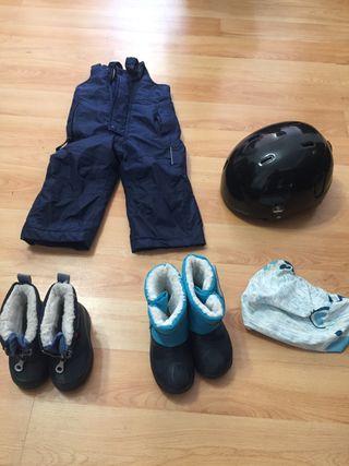 Pantalón esquí niño /Botas/casco esqui