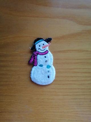 parche para ropa muñeco de nieve