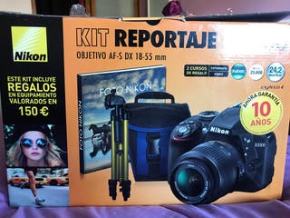 Cámara Nikon D3300 Kit Reportaje