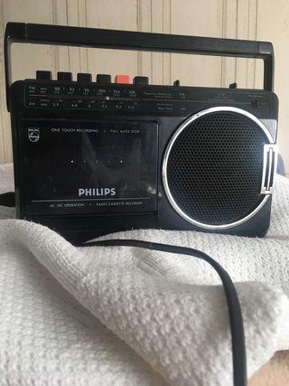 Radio cassette grabador Philips