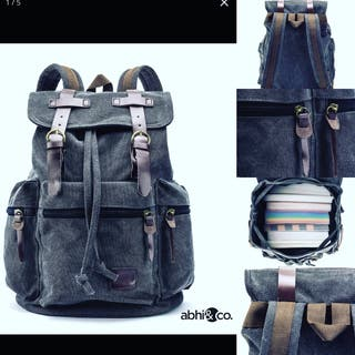 Saturnboards vintage black backpack