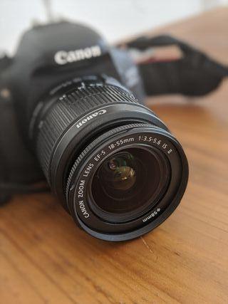 Canon EOS 600D + objetivo 18-55