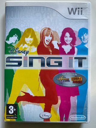 Disney Sing it Hannah Montana y Camp Rock wii