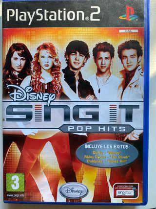 Disney SING IT pop Hits Playstation 2