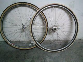 Ruedas de ciclocross tubular