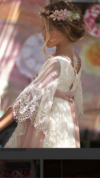 Vestido de comunión mon air modelo Bardot 2018