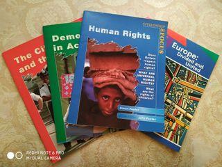 Lote libros (Inglés): Derechos humanos, Europa...