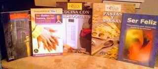 lote libros cocina y autoayuda