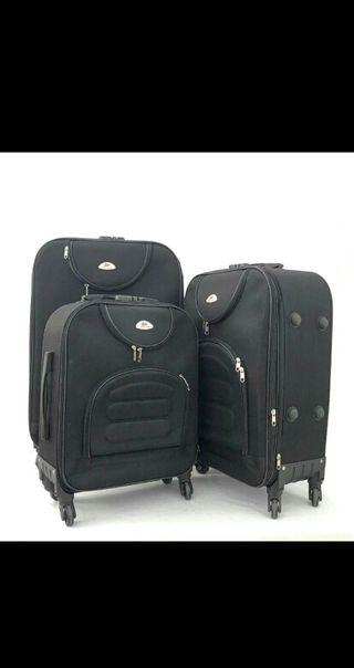 conjunto de maletas nuevas diseño tela