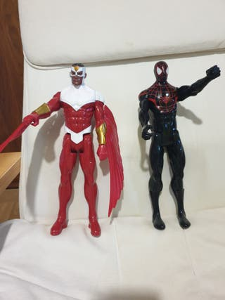 Figuras superhéroes Falcon & Spidermann