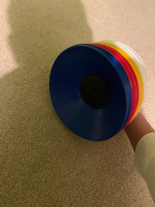 Multi-colour set of sport cones
