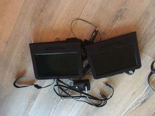 2 pantallas dvd portátiles para coche