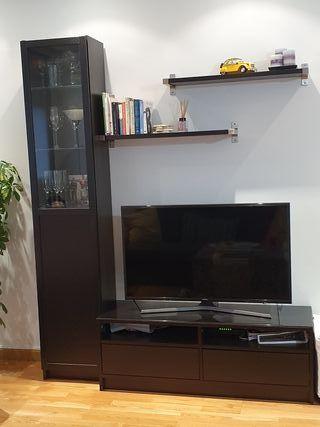 conjunto muebles ikea salón serie billy
