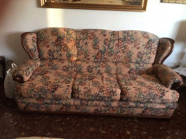 Sofa y dos sillones vintage