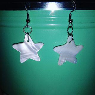 Pendientes Estrella Nácar
