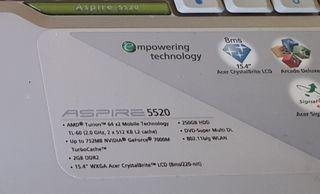 portatil acer 5520