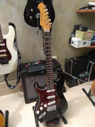Guitarra eléctrica para zurdo.