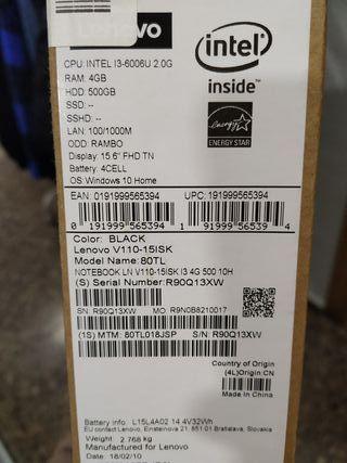Vendo Portátil Lenovo ¡NUEVO! (Garantía inc.)